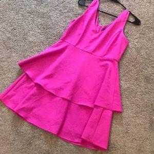 Lulus Pink Peplum Dress